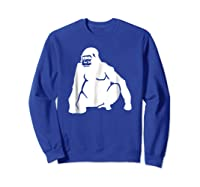 Huge Gorilla T-shirt Sweatshirt Royal Blue