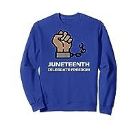 Junenth Junenth Celebration Shirts Sweatshirt Royal Blue