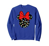 Disney Minnie Lights Up T Shirt Sweatshirt Royal Blue