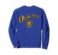 Oktoberfest German Eagle Shield Classic Vintage Shirts Sweatshirt Royal Blue