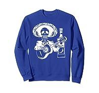 Mariachi Skeleton With Tequila Dia De Los Muertos Shirts Sweatshirt Royal Blue