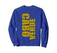 Cabo Verde Side Words Shirts Sweatshirt Royal Blue