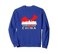 Shenzhen Shirt City Skyline Silhouette China Gift T Shirt Sweatshirt Royal Blue