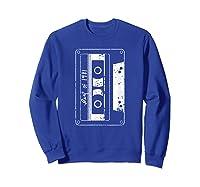 Vintage Best Of 1981 80s Tape Cassette Funny Dj Shirts Sweatshirt Royal Blue
