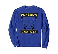 Pokemon Pikachu Trainer T-shirt Sweatshirt Royal Blue