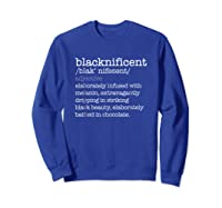 Dictionary Black History Month Pride Shirts Sweatshirt Royal Blue