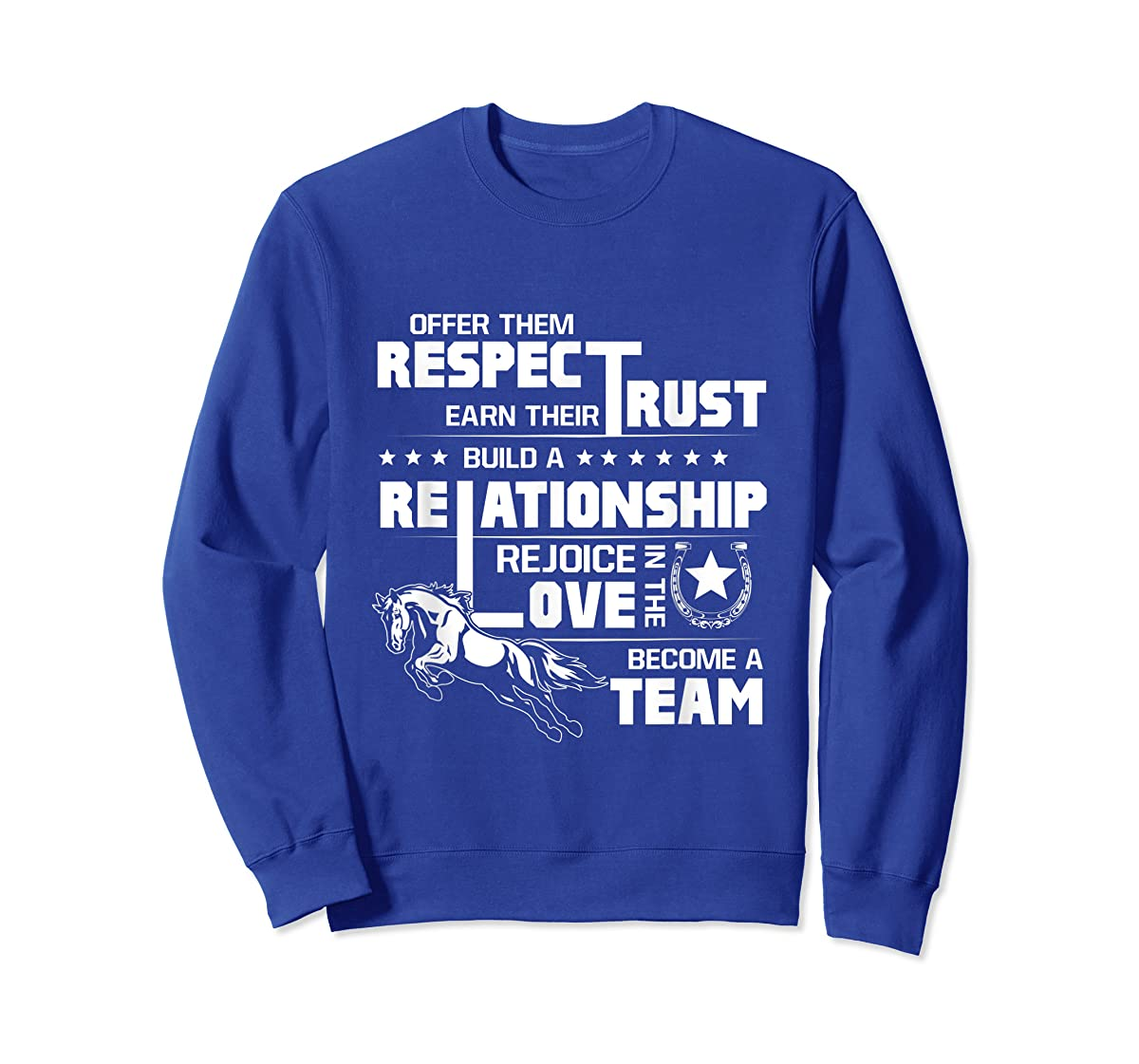 Cool Horse T-shirt with great quote for equestrian lover tee-Sweatshirt-Royal