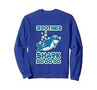 Baby Shark Doo Doo Doo Boy Family Brother Shark Shirts Sweatshirt Royal Blue