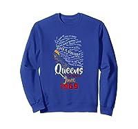 Queens Are Born In June 1969 50th Birthday T-shirt Sweatshirt Royal Blue