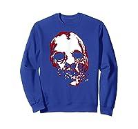 American Horror Story Asylum Bloody Face Shirts Sweatshirt Royal Blue