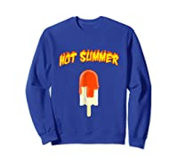 Hot Summer Ice Cream Lover T Shirt For Summer Sweatshirt Royal Blue