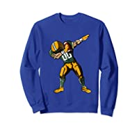 Football Dabbing T Shirt Funny Green Yellow  Sweatshirt Royal Blue