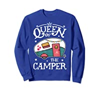 Queen Of The Camper Outdoor Camping Camper Girls Shirts Sweatshirt Royal Blue