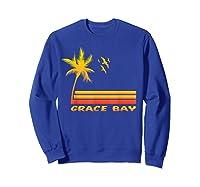 Retro Grace Bay Beach T-shirt Island Paradise Shirt Sweatshirt Royal Blue