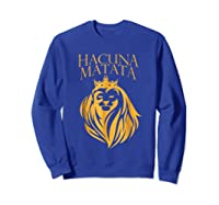 \'s Golden Lion King-hakuna Matata Tshirt-premium Quality Sweatshirt Royal Blue