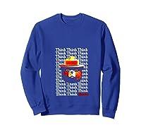 Smokey Bear Think Think Thanks T-shirt Sweatshirt Royal Blue