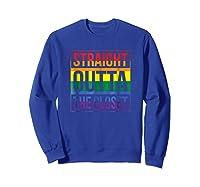 Straight Outta The Closet Pride T-shirt Sweatshirt Royal Blue