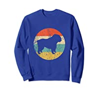 English Bulldog Retro English Bulldog Dog Shirts Sweatshirt Royal Blue