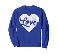 Cute Cursive Love Valentines Day Red For Shirts Sweatshirt Royal Blue
