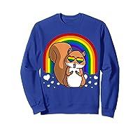 Squirrel Gay Pride Rainbow Q Cute Gift Shirts Sweatshirt Royal Blue