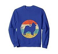 Pomeranian Retro Style Dog Shirts Sweatshirt Royal Blue