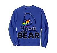 Uncle Bear Lgbt Rainbow Pride Gay Lesbian Gifts Shirts Sweatshirt Royal Blue