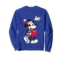 Disney Hello Holiday Mickey T Shirt Sweatshirt Royal Blue