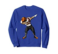 Football Dabbing T Shirt Funny Black Orange  Sweatshirt Royal Blue