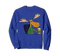 Smiletodaytees Funny Moose Drinking Mug Of Beer T-shirt Sweatshirt Royal Blue