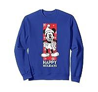 Disney Mickey Mouse Chilling T Shirt Sweatshirt Royal Blue