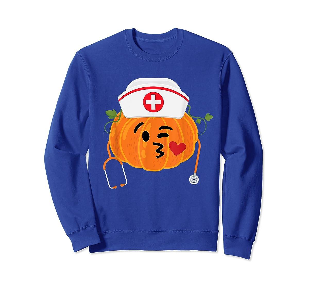 Nurse Stethoscope Pumpkin Funny Nursing Halloween Gift T-Shirt-Sweatshirt-Royal