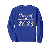 Class Of 2029 Grow With Me First Day Of School Gold Shirts Sweatshirt Royal Blue