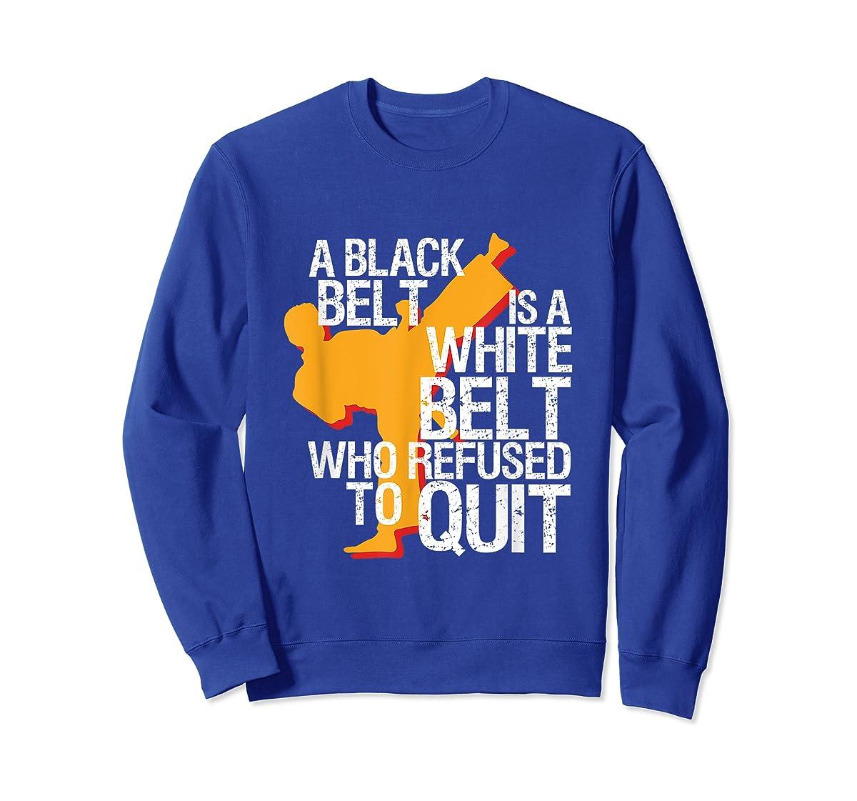 Taekwondo and Karate Black Belt Martial Art Student T-shirt-Sweatshirt-Royal