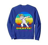 Lgbt Unicorn Dabbing T-shirt Gay And Lesbian Pride Sweatshirt Royal Blue