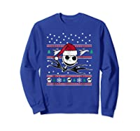 Nightmare Before Christmas Holiday Shirts Sweatshirt Royal Blue