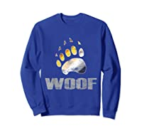 Bear Pride Woof Bear Claw Symbol Distressed For Shirts Sweatshirt Royal Blue