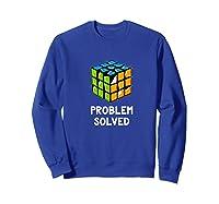 Problem Solved - Rubic Cube Premium T-shirt Sweatshirt Royal Blue