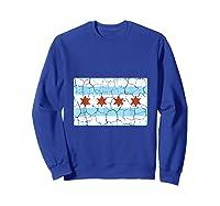 Chicago City Flag Shirt Illinois Retro Vintage Sweatshirt Royal Blue