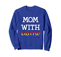 Mom With Pride Lgbt Rainbow Tank Top Shirts Sweatshirt Royal Blue