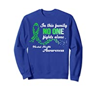 In This Family No One Fights Alone Tal Health T Shirt Sweatshirt Royal Blue
