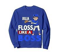 Baseball Shirt Custom Name Julia Birthday  Sweatshirt Royal Blue