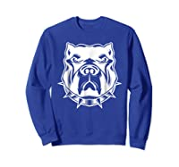 Pit Bull Face T For Pitbull And Apbt Lovers Shirts Sweatshirt Royal Blue