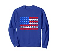Goldendoodle 4th Of July Usa American Flag Patriotic Dog Shirts Sweatshirt Royal Blue