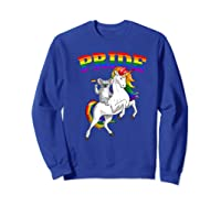 Koala Bear Unicorn Gay Pride Rainbow Q Cute Gift Shirts Sweatshirt Royal Blue