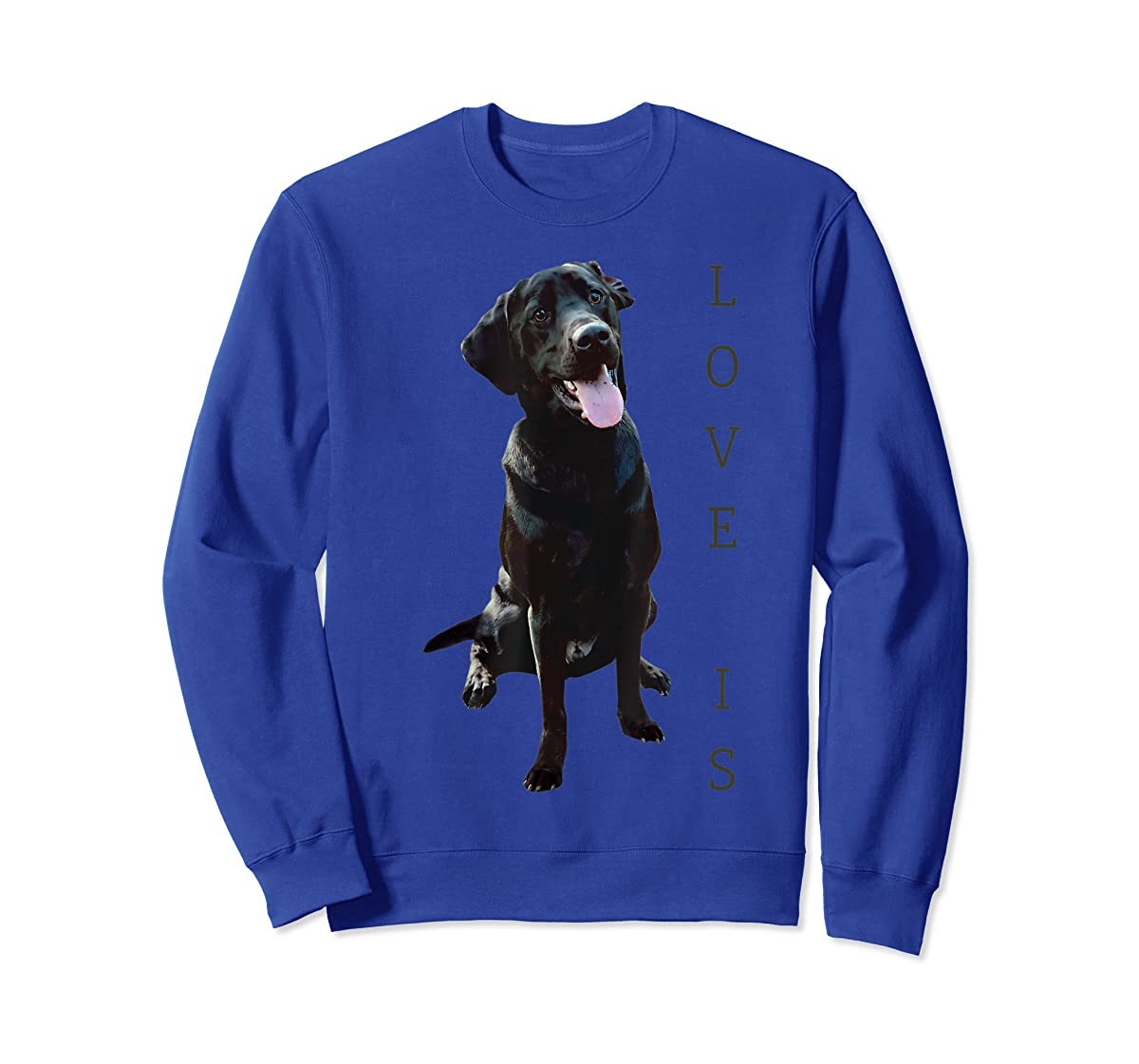 Labrador Retriever Shirt Women Men Kids Black Lab Dog Mom-Sweatshirt-Royal