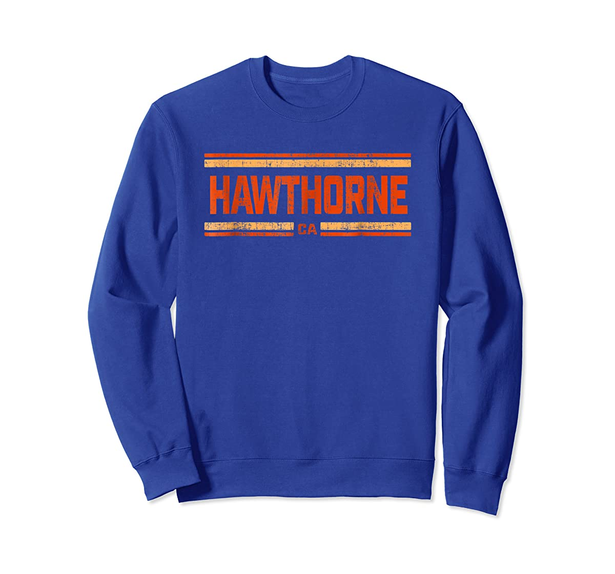 Retro Vintage Hawthorne CA Distressed T-Shirt-Sweatshirt-Royal