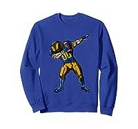 Football Dabbing T Shirt Funny Royal Blue Gold Navy  Sweatshirt Royal Blue