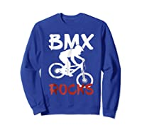 Bmx Riding Rocks T Shirt Cool Dirt Bike Race Stunt Gift Tees Sweatshirt Royal Blue
