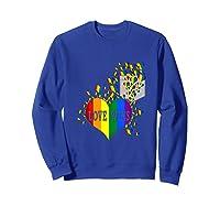 Love Wins Lgbtq Color Heart Pride Month Rally Shirt Tank Top Sweatshirt Royal Blue