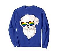 Havanese Face Rainbow Sunglasses Gay Pride Lgbt Tshirt Gifts Sweatshirt Royal Blue